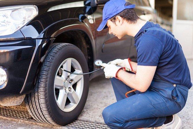 Những lưu ý khi bơm lốp xe ô tô