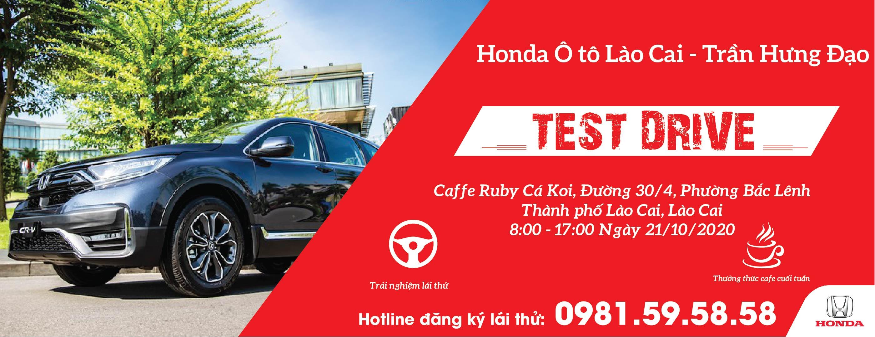 Sự kiện lái thử các dòng xe tại Honda Ô tô Lào Cai